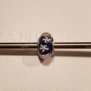 Reserved Pandora Glass Charm Blue